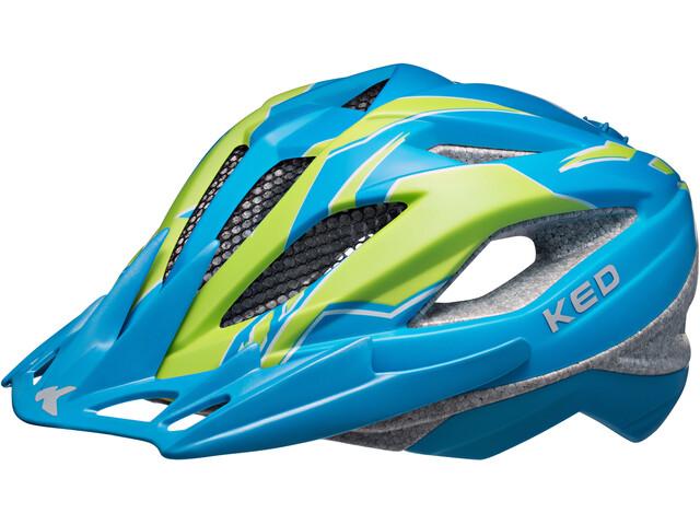 KED Street Pro Helmet Junior Blue Green Matt